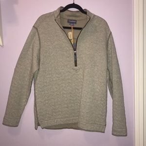 Tommy Bahama zip-up quilted sweater